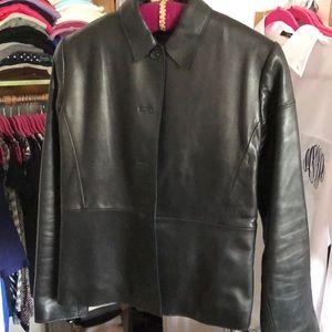 Banana Republic Leather Jacket - Looks New!